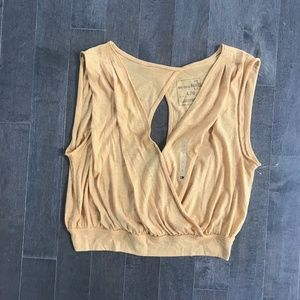 We The Free V Neck Wrap Crop Top
